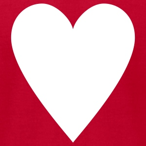 Red Card game-Playing Card-Hearts-Rummy-Canasta-Poker T-Shirts - Men's T-Shirt by American Apparel