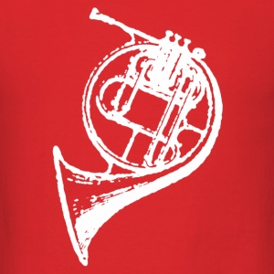 Red White French Horn T-Shirts - Men's T-Shirt