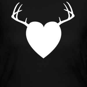 Chocolate HEART ANTLERS Long Sleeve Shirts - Women's Long Sleeve Jersey T-Shirt