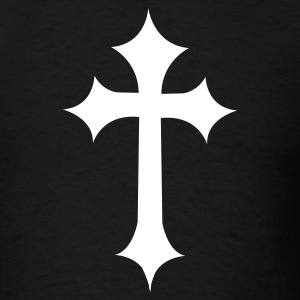 Black fancy gothic cross  T-Shirts - Men's T-Shirt