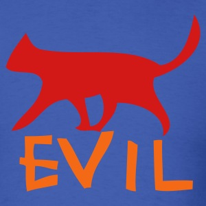 Royal blue evil with cat walking T-Shirts - Men's T-Shirt