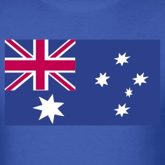 Royal blue australian flag T-Shirts