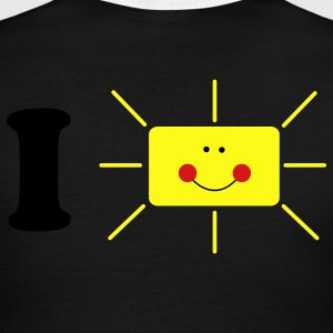 Chocolate/tan i heart sun smiling T-Shirts - Men's Ringer T-Shirt