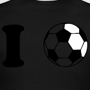 Green/white i heart soccer ball football T-Shirts - Men's Ringer T-Shirt