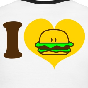 White/navy i heart hamburger T-Shirts - Men's Ringer T-Shirt