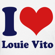 Design ~ Womens I Heart Louie V tee
