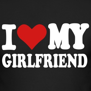 Black I love my girlfriend Long Sleeve Shirts - Men's Long Sleeve T-Shirt by Next Level