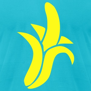 Turquoise Banana T-Shirts - Men's T-Shirt by American Apparel