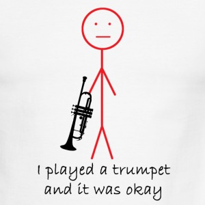 White/red I Played a Trumpet T-Shirts - Men's Ringer T-Shirt