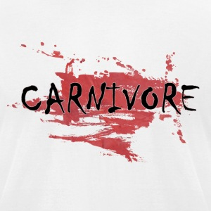 White Carnivore T-Shirts - Men's T-Shirt by American Apparel