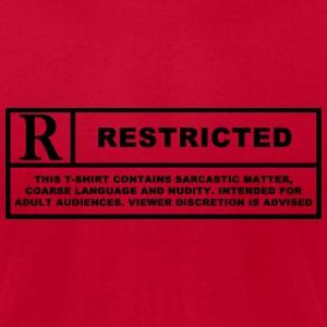Red Coarse language T-Shirts - Men's T-Shirt by American Apparel