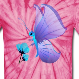 Lady Blue Butterfly - Unisex Tie Dye T-Shirt