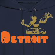 Design ~ Spirit of Detroit Men's Hooded Sweatshirt