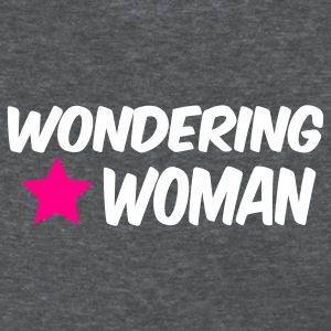 Deep heather wondering woman Women's T-Shirts - Women's T-Shirt