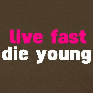 Brown live fast die young Women's T-Shirts - Women's T-Shirt