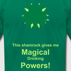 Kelly green drinkingpowers2 T-Shirts - Men's T-Shirt by American Apparel