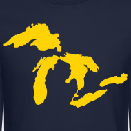 Design ~ Just Michigan Men's Crewneck Sweatshirt (not glow in dark)