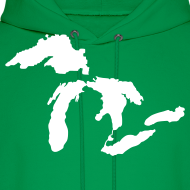Design ~ Just Michigan Men's Hooded Sweatshirt (not glow in dark)
