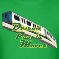 Design ~ Detroit People Mover Men's Standard Weight T-Shirt