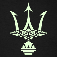 Design ~ GLOW-IN-THE-DARK TRIDENT T-Shirt - Poseidon Tee