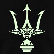 Design ~ GLOW-IN-THE-DARK TRIDENT T-Shirt - Poseidon Tee