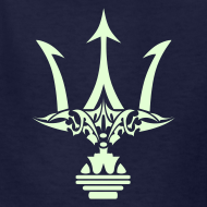 Design ~ GLOW-IN-THE-DARK TRIDENT Kids T-Shirt - Poseidon Tee