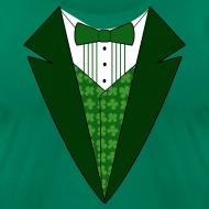 Design ~ Irish Tuxedo T-Shirt, Green St Patricks Day Tuxedo Shirt