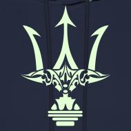 Design ~ GLOW-IN-THE-DARK TRIDENT Hoodie - Poseidon Sweatshirt
