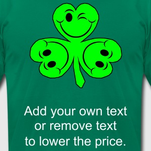 Kelly green smileycloverleaves1 T-Shirts - Men's T-Shirt by American Apparel