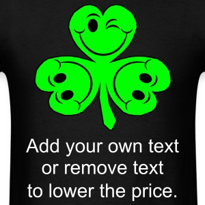 Black smileycloverleaves1 T-Shirts - Men's T-Shirt