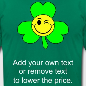 Kelly green smileyclover T-Shirts - Men's T-Shirt by American Apparel