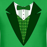 Design ~ Value Irish Tuxedo T-Shirt, Green St Patricks Day Tuxedo Shirt
