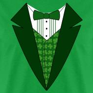 Design ~ Value Irish Tuxedo T-Shirt, Green St Patricks Day Tuxedo Shirt