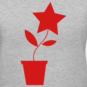 Gray star flower pot plant cute etsy inspired Women's T-Shirts - Women's V-Neck T-Shirt