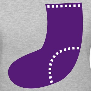 Gray a SOCK with stitches  Women's T-Shirts - Women's V-Neck T-Shirt