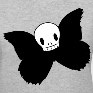 Gray DJ cool hoodie skull on a butterfly body Women's T-Shirts - Women's V-Neck T-Shirt
