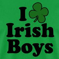 Design ~ Funny St Patricks Day T-Shirt, I Love Irish Boys Shamrock