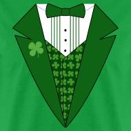 Design ~ Leprechaun Tuxedo T-Shirt, Green Tuxedo Shirt