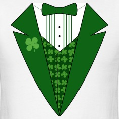 White Leprechaun Tuxedo Green St Patricks Day T-Shirts