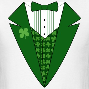 White Leprechaun Tuxedo Green St Patricks Day T-Shirts - Men's T-Shirt