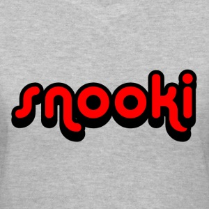Gray Snooki Women's T-Shirts - Women's V-Neck T-Shirt
