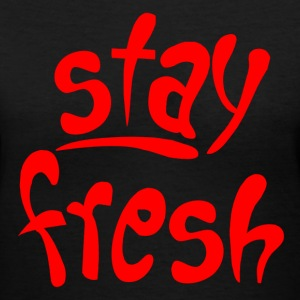 Black Stay Fresh Women's T-Shirts - Women's V-Neck T-Shirt