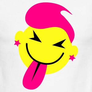 White/black pink hot smiley pulling tongue funny and cute! T-Shirts - Men's Ringer T-Shirt