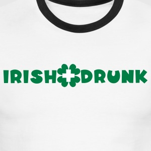 White/black Irish and drunk St Patricks Day with clover T-Shirts - Men's Ringer T-Shirt