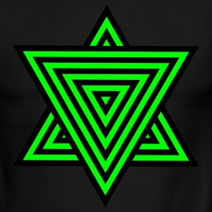 Green/white star triangle with patterning T-Shirts - Men's Ringer T-Shirt