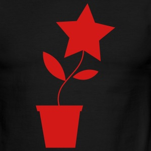 Green/white star flower pot plant cute etsy inspired T-Shirts - Men's Ringer T-Shirt