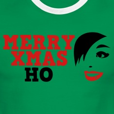 Green/white merry xmas ho comedy insult Christmas shirt T-Shirts