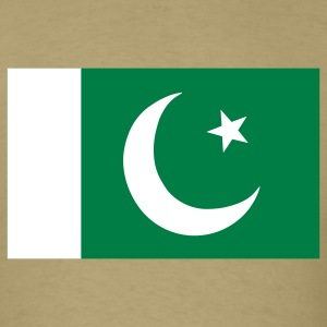 Khaki Flag of Pakistan T-Shirts - Men's T-Shirt