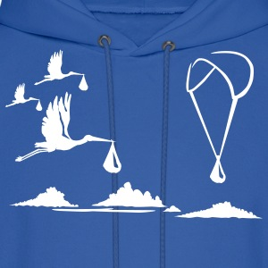 Paragliding with Storks Hoodies - Men's Hoodie