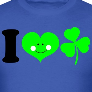 Royal blue i heart ireland cute smile with clover for St Patricks Day! T-Shirts - Men's T-Shirt